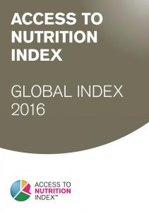 ACCESS TO NUTRITION INDEX GLOBAL INDEX 2016