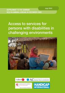 Access to services for persons with disabilities in challenging environments