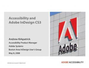 Accessibility and Adobe InDesign CS3