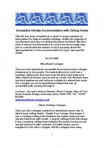 Accessible Holiday Accommodation with Ceiling Hoists