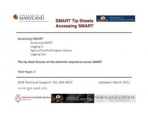 Accessing SMART. Accessing SMART through the internet