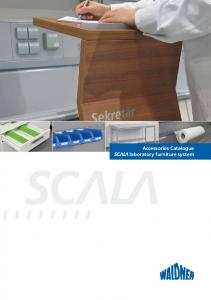 Accessories Catalogue laboratory furniture system