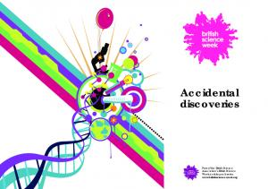 Accidental discoveries. Part of the British Science Association s British Science Week activity pack series