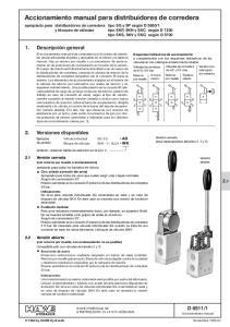 Accionamiento manual para distribuidores de corredera