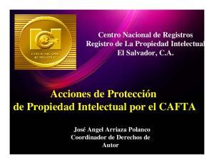 Acciones de Protección de Propiedad Intelectual por el CAFTA