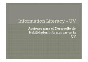 Acciones para el Desarrollo de Habilidades Informativas en la UV