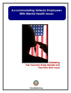 Accommodating Veteran Employees With Mental Health Issues