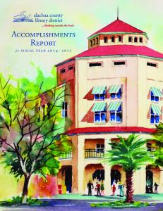 Accomplishments Report. for fiscal year 2014~2015