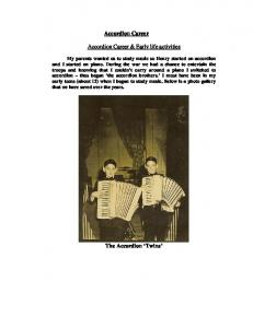 Accordion Career. Accordion Career & Early life activities
