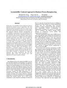 Accountability Centered Approach to Business Process Reengineering