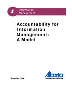 Accountability for Information Management: A Model
