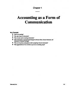 Accounting as a Form of Communication