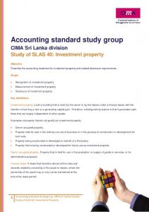 Accounting standard study group