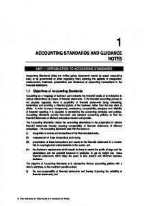 ACCOUNTING STANDARDS AND GUIDANCE NOTES
