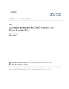 Accounting Strategies for Small Business Law Firms' Sustainability