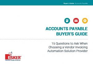 ACCOUNTS PAYABLE BUYER S GUIDE