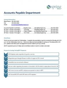 Accounts Payable Department