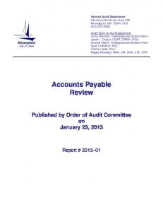 Accounts Payable Review