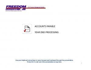 ACCOUNTS PAYABLE YEAR END PROCESSING