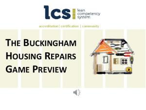 accreditation certification community THE BUCKINGHAM HOUSING REPAIRS GAME PREVIEW