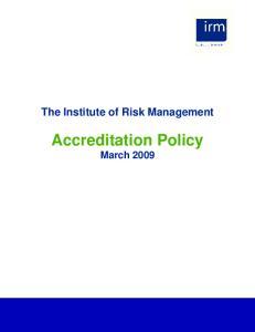 Accreditation Policy