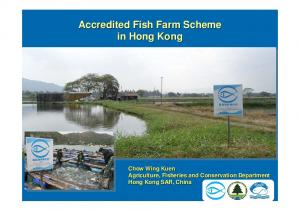 Accredited Fish Farm Scheme in Hong Kong. Chow Wing Kuen Agriculture, Fisheries and Conservation Department Hong Kong SAR, China