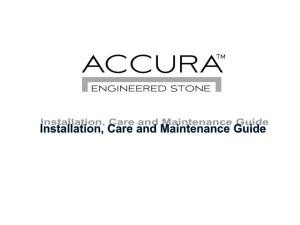 Accura Engineered Stone is a modular, lightweight engineered quartz product which does not require templating or specialist fabrication, facilitating