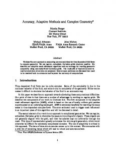 Accuracy, Adaptive Methods and Complex Geometry
