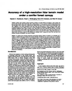 Accuracy of a high-resolution lidar terrain model under a conifer forest canopy