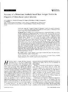 Accuracy of a Monoclonal Antibody-based Stool Antigen Test in the Diagnosis of Helicobacter pylori Infection