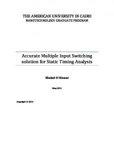 Accurate Multiple Input Switching solution for Static Timing Analysis