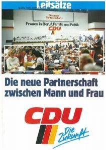 ACDP_ D...~neue. r drmerschaft. Frauen in Beruf,Familie und Politik CDU. 11. Die neue Partnerschaft zwischen Mann und Frau
