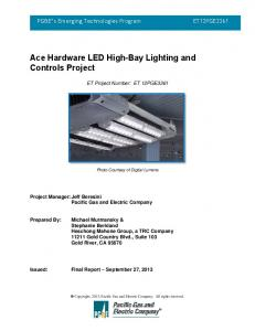 Ace Hardware LED High-Bay Lighting and Controls Project