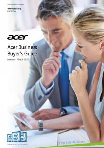 Acer Business Buyer s Guide