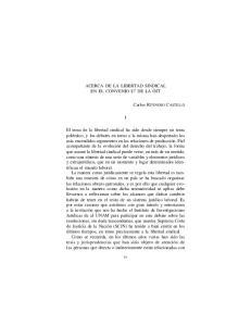 ACERCA DE LA LIBERTAD SINDICAL EN EL CONVENIO 87 DE LA OIT