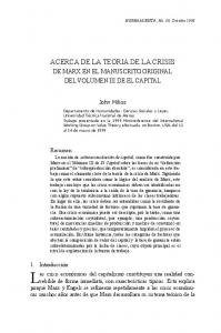ACERCA DE LA TEORIA DE LA CRISIS