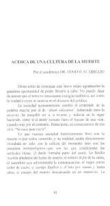 ACERCA DE UNA CULTURA DE LA MUERTE