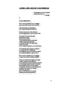 ACERCA DEL DOLOR Y SUS HERIDAS