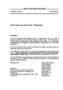 Acero para uso estructural - Requisitos