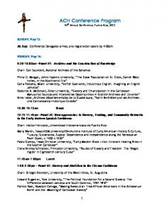 ACH Conference Program