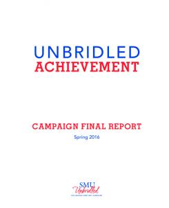 ACHIEVEMENT CAMPAIGN FINAL REPORT