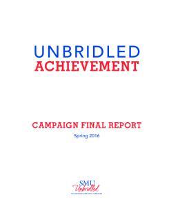 ACHIEVEMENT CAMPAIGN FINAL REPORT