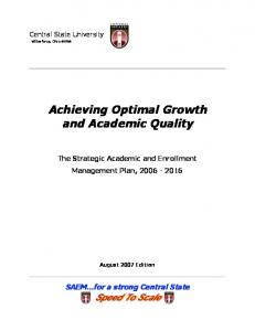 Achieving Optimal Growth and Academic Quality