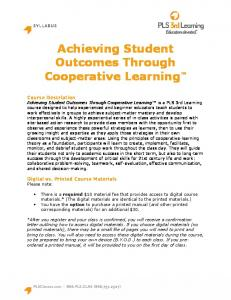 Achieving Student Outcomes Through Cooperative Learning