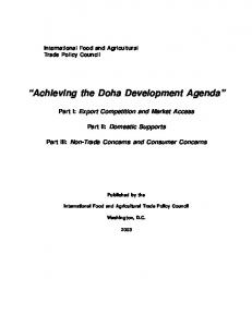 Achieving the Doha Development Agenda