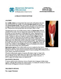 ACHILLES TENDON RUPTURE ANATOMY
