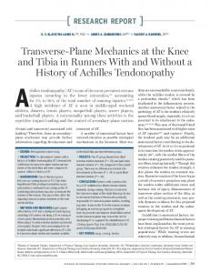 Achilles tendonopathy (AT) is one of the most prevalent overuse