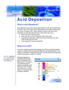 Acid Deposition. What is acid deposition? What is an acid?