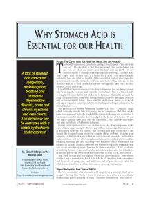 ACID WHY STOMACH IS ESSENTIAL FOR OUR HEALTH