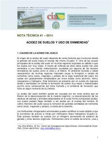 ACIDEZ DE SUELOS Y USO DE ENMIENDAS 1